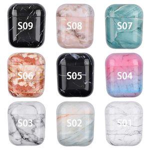 Earphone case PC hard shell marble texture earphone set protector wireless headset case for Apple earphone case airpods1 2 3 Pro