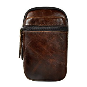 "Pouch Men Original Design Summer Phone Belt Hook Male Waist Pack Bag Fashion Leather Cigarette Case 6"" Small Travel 6546-c Hcvbi"