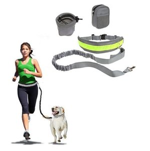 Pet Dog Leash Hands Free Traction Seat Belt Adjustable Traction Leash Outdoor Sports Walking Running Rope GWC4555