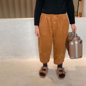 2020 Autumn Winter New Arrival Girls Fashion Warm Fleece Pants Kids Korean Design Trousers F1205
