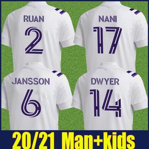 2020 2021 올랜도 시티 축구 유니폼 Dwyer Pereyra 축구 유니폼 Orlando City Nani Football Jersey Man 아이들 더 많은 10pcs 무료 빠른 배송
