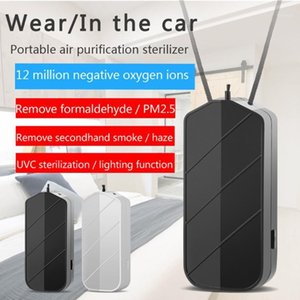 Portable Air Purifier Sterilizer Neck Hanging Smoke Eliminator USB Charging Bedroom Travel Air Cleaner for Dust Pets Smell1