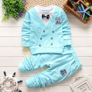 New Autumn Baby Boy Girl Clothes Cartoon Long Sleeve Top+Pants 2pcs Sport Suit Baby Clothing Set Newborn Clothing Free Shipping Y1113