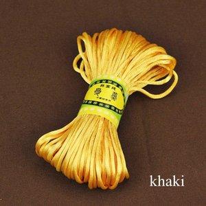 20mètre 2mm Satin Nylon de cordon Satiné Satiné Satiné Satiné Knot Chinois Bracelet Bracelet tressé String String Bricolage Tassels Beading String H BBYQHK