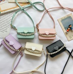 Designer di lusso borse per ragazze nuovi bambini amore cuore principessa borsetta perla catena di perle di San Valentino bambini borsa a tracolla 418