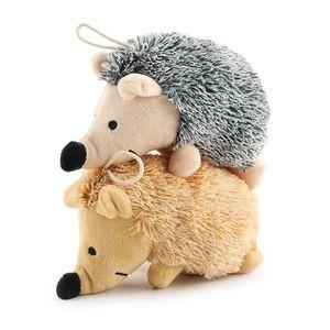 Squeak Plush Dog Toys Hedgehog Форма Интрастивная тренировка чучела собака жевать игрушки для щенков и маленьких питомцев JK2012PH