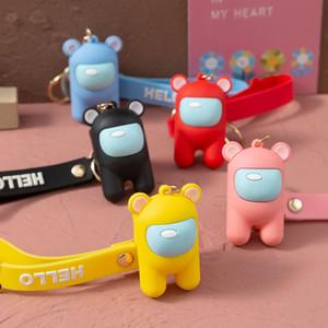 5 Colors us among keychain us among Plush Toys Key Chain Wedding Gifts Bag Pendant Key Ring for Kids Boys and Girls Christmas Gift