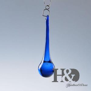 10PC Blue 150mm K9 Crystal Raindrop Prisms Suncatcher Pendant Lamp Chandelier Part Curtain Wedding Centerpieces Decoration DIY
