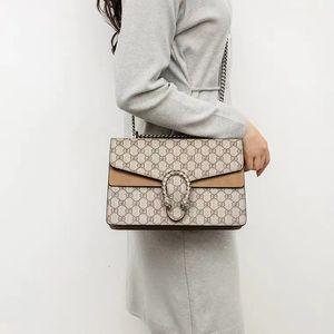 Classic Dionysus Leather Women's Gg Same Letter Print Messenger Bag 20