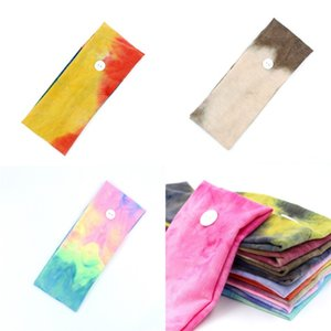 Yoga Motion Hair Band Tie Dyed Originality Elastic Force Button Headbands Bodybuilding Ear Protection Scarf Fashion Accessories 2 7hx F2