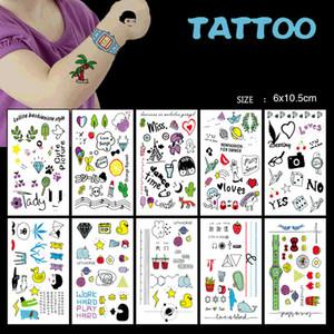 Children Tattoo Stickers Fun Cartoon Transportation Toy Tattoo Stickers Fake Tattoos Paste on Face Arm Leg for Kids Body Art
