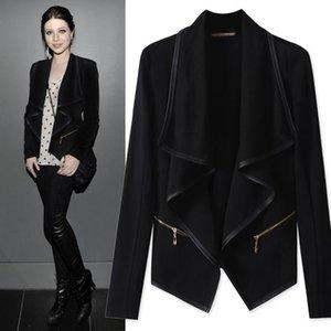Europe autumn jacket women plus size women coat Vintage thin Slim irregularity jacket Casacos Femininos