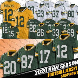 12 Aaron Rodgers Jersey 33 Aaron Jones Jerseys Davante Adams Darnell Savage Jersey Allen Lazard Robert Tonyan Football Jersey Kevin King