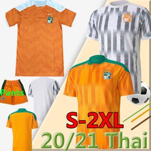 2020 2021 Costa D Ivoire Soccer Jerseys Squadra nazionale Costa Avorio Jersey Drogba Kessie Zaha Cornet Uomo Homme Maillot de Foot Football Uniform