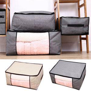 Non-Woven Family Save Space Organizer Bed Under Closet Storage Box Clothes Toy Divider Organiser Quilt Duvet Blanket Holder