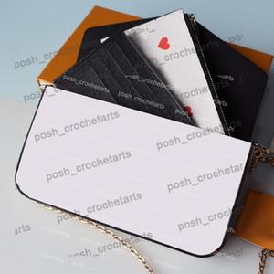 Poker Print Felicie для продажи кошельки с держателем карты 3 шт. Установите игру на сцеплении для женской сумки в кошельках с коробкой