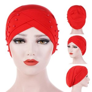 Новый стиль мусульманских тюрбанских женщин Hijab Chemo Caps Caps Headscarf Hat Head Waph Cover Ladies Hijab растяжек мусульманский шарф