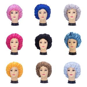 Chapeau satiné wig costume double couche satin satin bonnet de nuit beauté perm CAPL chimiothérapie capuchon de perte de cheveux