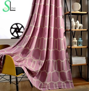Honeycomb Three dimensional Embroidery Curtain Mianma Curtains French Window Embroidered Plaid And Tulle For Bedroom Living Room