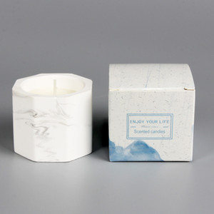 Marbate y yeso vela de la vela de cumpleaños decoración de la fiesta de cumpleaños natural sin humo de fragancia de soja cera de valentín regalos w-00524