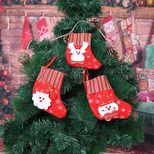 Christmas Decoration Christmas Socks Gift Bags Doors And Windows Living Room Candy Decorations Santa Claus Snowman Elk
