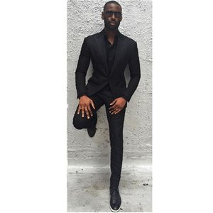 Black Business Men Suits Custom Made, Bespoke Classic Black Wedding Suits For Men, Tailor Made Groom Suit WOOL Tuxedos For Men.1