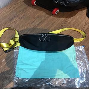 2020ss MINI Men off Yellow canvas belt high white Shoulder Bag pu chest bag waist bags multi purpose satchel Shoulder Bag Messenger women