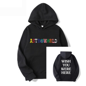 Travis Scott Astroworld Printed Hoodie I Went To Astro World Artist Music Hoodie You Were Here Pullover Casual Sport HoodieX1121