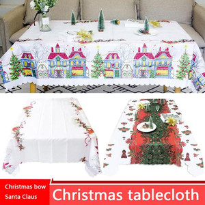 Christmas Cartoon Tablecloth Table Christmas Covers Cover Rectangular Cloth Personality Decor Square Table Waterproof Ornaments Kbxdp