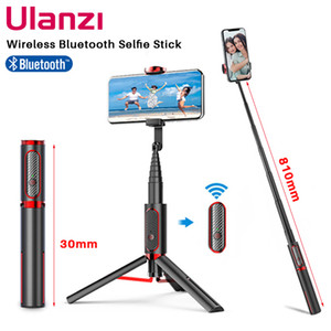 Ulanzi SK-01 3 in 1 Wireless Bluetooth Selfie Stick Foldable Tripod Expandable Monopod with Remote Control for iPhone Android Y1128