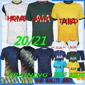 Thai 20/21 Qualità Tottenham Kane Soccer Jersey Lamela Bergwijn Ndombele Dele Son 19/20 Jersey Camicie da uomo Kit bambini Kit Set uniforme