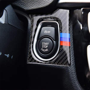 Three Color Carbon Fiber Car Key Hole Decorative Sticker for BMW F30 2013-2018 F34 2013-2017 Sutible for Left Driving