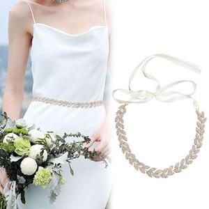 Belts Bridal Dress Belt Rhinestone Inlaid Alloy Girdle For Wedding Bride Bridesmaid XIN-