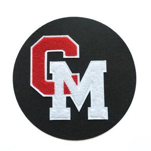 Manchas de la letra de Chenille Parches de Chenille Plancha en el parche de bordado 10 unids Custom Chenille Parche Auto-adhesivo Respaldo para Sudaderas Camiseta