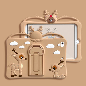 For iPad air 4 3 2 5 Pro 9.7 10.5 10.2 11 10.9 Mini 1 2 3 4 5 Silicone Stand Holder Protective Cover Ipad Case Tablet Case Cute Cartoon