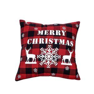 45*45cm Christmas Snowflake Pillowcase New Year Decor Santa Cushion Covers Home Sofa Pillow Case Xmas Pillow Cover Party Supplies YYB2951