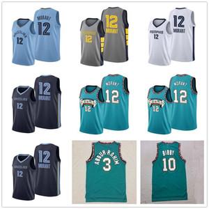 JA 12 MONANT MIKE 10 BIBBY كرة السلة الفانيلة رجالي شريف 3 عبد الرحيم 50 Reeves الرجعية الأخضر عالية الجودة كرة السلة قميص