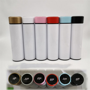 Blank Sports with Temperature Indicate Coating Sublimation Blanks Stainless Steel Bottle Personality Customized Water Cup A05
