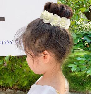 Flower Hair Bun Anillo Ajustable Guirnalda Halo Crown Floral Boda Guirnalda Diadema para Festival de Playa Fiesta