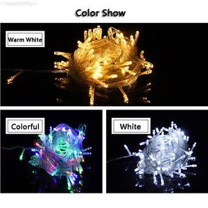 Christmas 100 Strings Lights Decoration Light 10M 110V For Party Wedding LED Holiday Lighting Lamp DBC VT1055