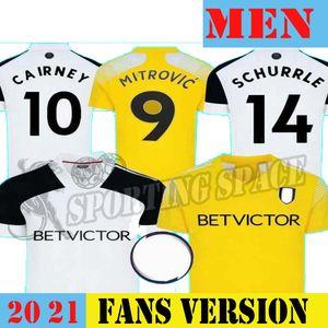 20 21 mitrovic Cairney Fussball Jerseys League 2020 2021 Seri I.cavaleiro Anguissa Home White Away Gelbe Männer Kinder Set Fußball Hemden Uniform