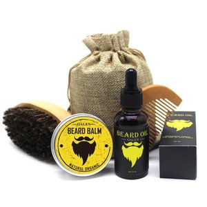 1 set Men organic beard oil with beard brush comb storage bagRabin