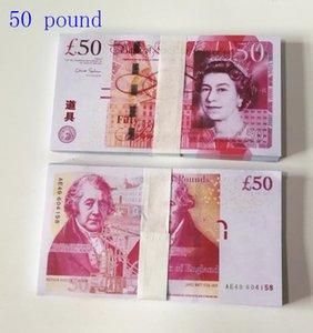 50 Pfund gefälschte Geld Hot-Selling Simulation Spielzeug Münze Film- und Fernsehsender-Requisiten-Praxis Banknoten-Bar-Spiel Token 01