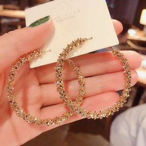 2021 sex exaggerated ear rings Super Fairy Fashion Metal Circle HIPSTER S925 silver needle fashion jumping earrings