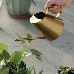 Arrosage de jardinage européen de canette en acier inoxydable en acier inoxydable 400/900 / 1500 ml d'eau de cuivre d'or