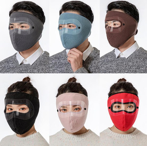 Зимние маски для лица мужчины женщин на открытом воздухе зимние лыжи защищают крышку лица велосипед велосипед мотоцикл теплые ветрозащитные головные уборы маска наушники ZY70