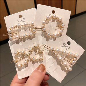 cute crown heart pearl setting gold plating alloy lady hair pin student hair clip trendy hair accessories