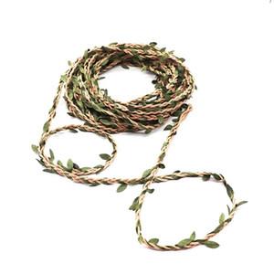 100cm Wax Cord Silk Leaves Rattan Diy Craft Rope For Home Wedding Decoration 100cm Wax sqcysK