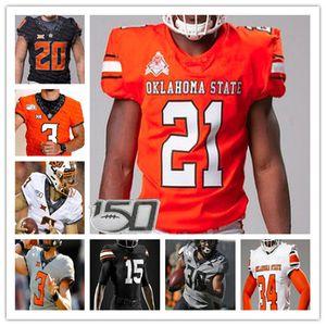 2020 College Oklahoma State Osu Jersey Football Spencer Sanders Chuba Hubbard Tylan Wallace Amen ObbongBemiga Shane Illendoworth LD Brown