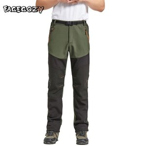 Facecozy Men Winter Outdoor Hiking Pants Male Softshell Waterproof Pants Climbing Camping Trekking for Fishing Hunting Trousers 201211